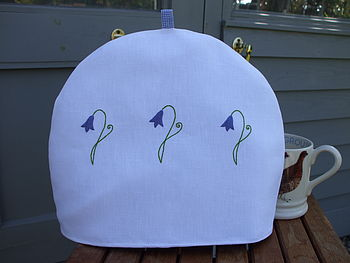 Hand Embroidered Bluebell Tea Cosy