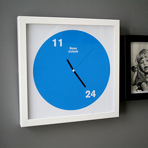 Personalised Birth Time Clock Print - new baby gifts