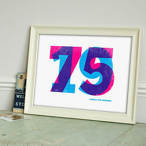 Special Date Personalised Print - birthday gifts