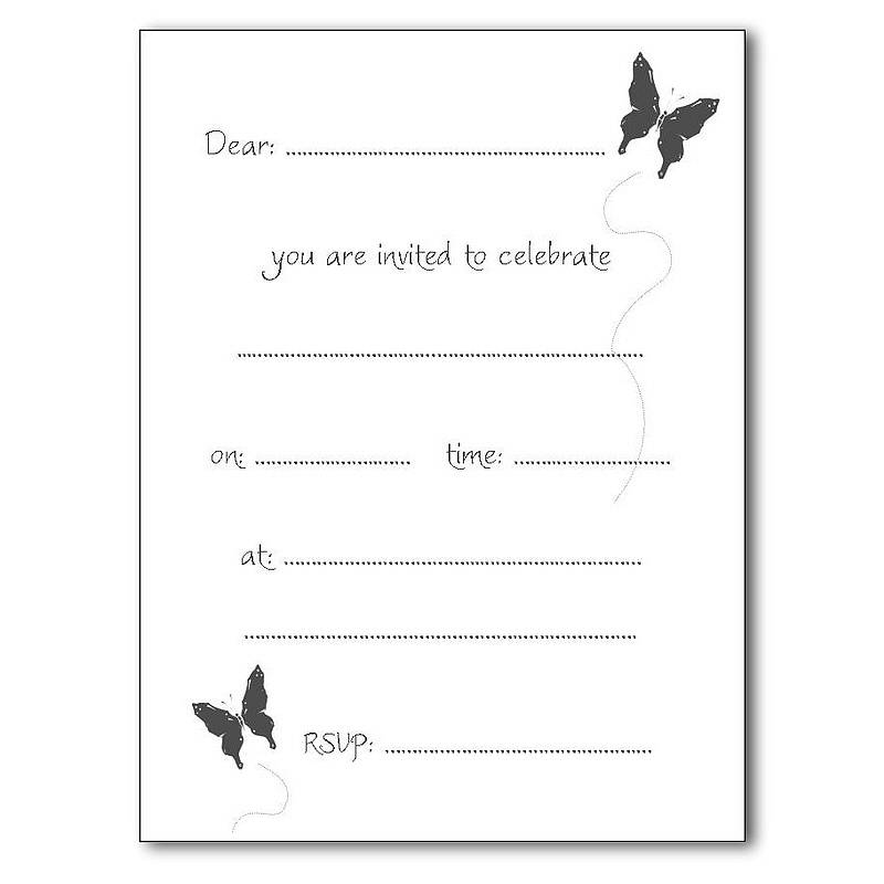 Pack Of 10 Personalised Party Invitations By Beautiful Day