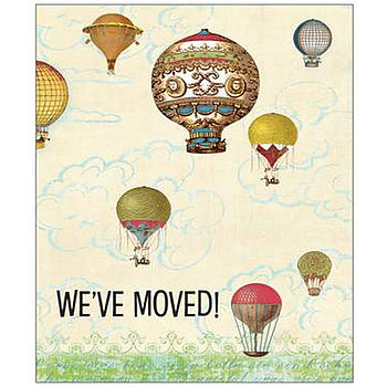 Pack Of 10 Personalised 'We Have Moved' Cards