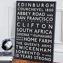 Bespoke Bus Blind Destination Canvas