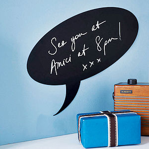 Speech Bubble Magnetic Chalkboard Sticker - sale by category