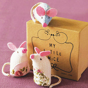 'My Little Mice' In A Box - soft toys & dolls