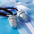 Personalised Silver Acorn Keepsake