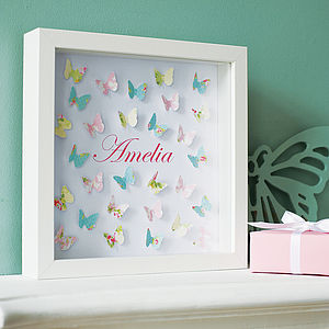 Paper Butterflies Artwork - gifts for babies