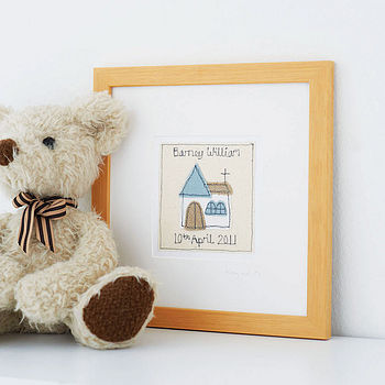 Personalised Christening Picture, Framed