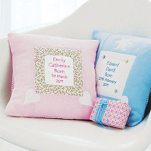 Personalised Baby Cushion - christening gifts
