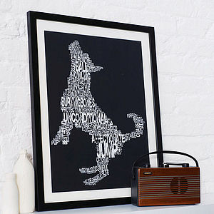 Typographic Dog Print - for pets & pet lovers