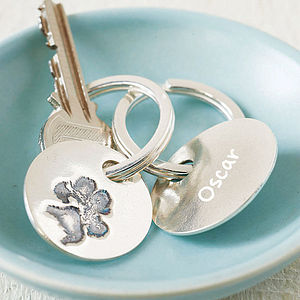 Your Pet's Paw Print Key Ring - women's accessories