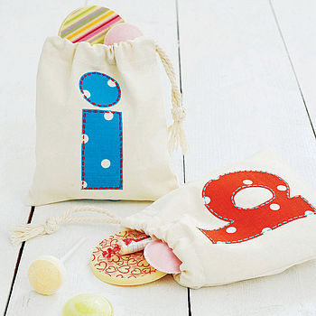 Personalised Applique Party Gift Bag