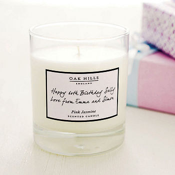 White label personalised scented candle