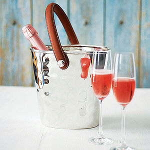 Silver Plated Wine Cooler - festive entertaining