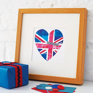 Flag Heart Print - art & pictures