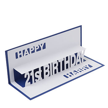 Personalised Birthday Pop Up Card
