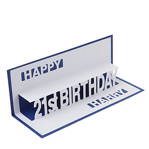 Personalised Birthday Pop Up Card - personalised