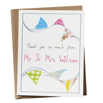 Personalised 'Thank You' Bunting Card