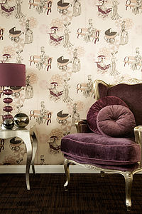 Parasol Parade Wallpaper - children's room