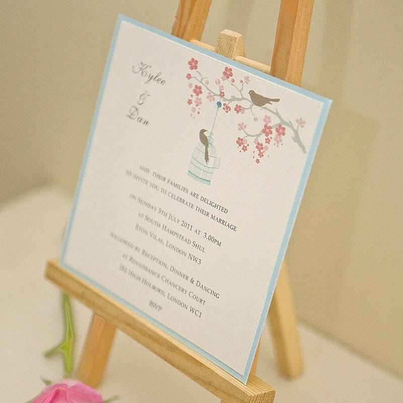 love birds' personalised wedding invitation by beautiful day, Wedding invitations