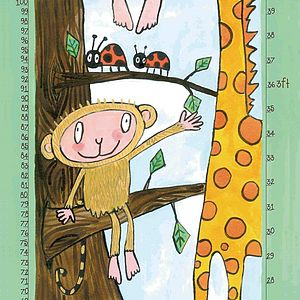Giraffe And Monkey Animal Height Chart