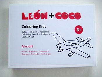 Kid's Colouring Kit - Aircraft