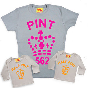 Mum And Son Or Daughter Fluorescent Pint Trio T Shirts - t-shirts