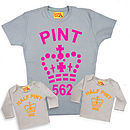 Mum And Son Or Daughter Fluorescent Pint Trio T Shirts
