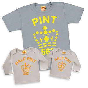 Dad Son Daughter Matching Fluorescent Pint Trio Tshirts - father & child sets