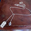 Personalised Silver Designer Label Lariat Chain Necklace