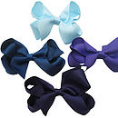 top blue, middle L-R Navy, Regal Purple, bottom Ink Blue