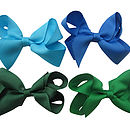 Top L-R - Aqua, Royal Blue, Forest Green, Emerald Green