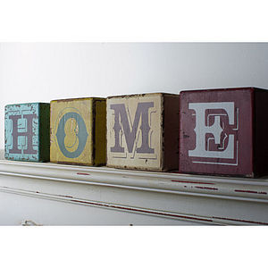 Home Building Blocks - decorative letters