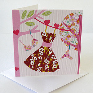 Sunday Dress Greetings Card
