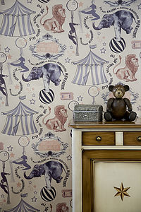 'Roll-Up, Roll-Up' Wallpaper - children's room