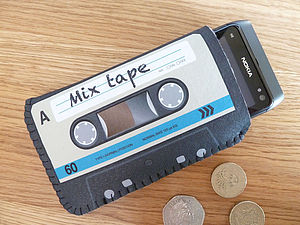 Colour Mix Tape Cassette Phone Case - tech accessories for her