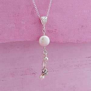 Coin Pearl & Silver Rose Necklace - necklaces & pendants