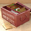 Burgandy Red Seed Tin Organiser (in use)