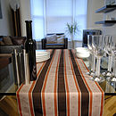 Chocolate And Orange Table Runner