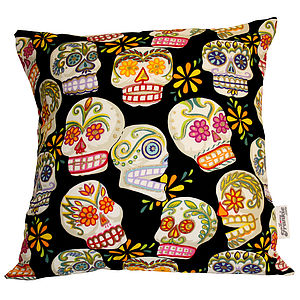 Skulls Day Of The Dead Cushions - furniture