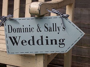 Personalised Wedding Arrow Sign - outdoor decorations