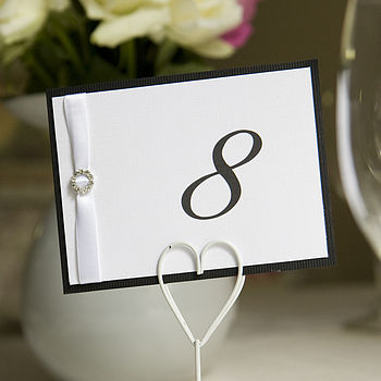 Personalised Table Numbers And Menu Cards