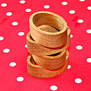 Oak Loop Napkins Rings