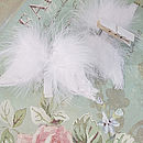 Set Of Two Feather Wings Names Holder