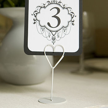 Heart Place Name Or Table Card Holder