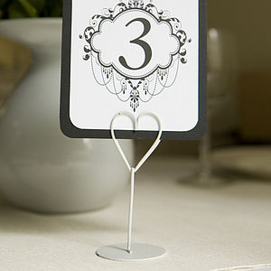 Heart Place Name Or Table Card Holder - shop by price