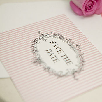 Pack Of 10 Personalised 'Save The Date' Cards