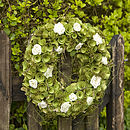 Green & Ivory wreath ring