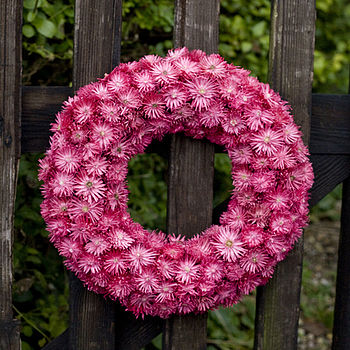 hot pink ring wreath