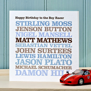 Personalised Male Celebrity Birthday Card
