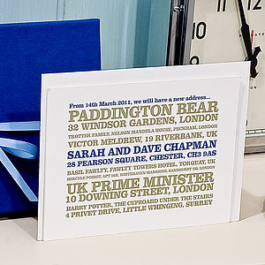 20 Personalised Change Of Address Cards - shop by category